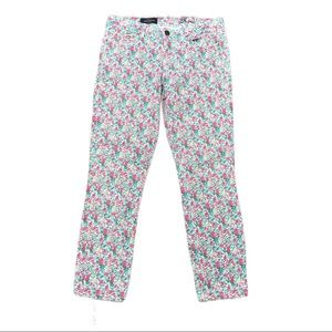 J Crew 28 Toothpick ankle floral pattern jeans